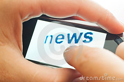 Word news on touch device
