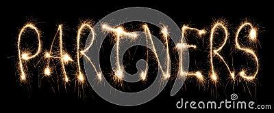 Word partners written sparkler