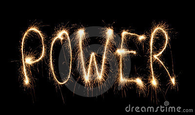 Word power written sparkler