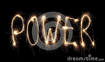 Word power written sparkler