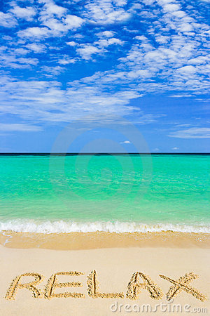 Free Word Relax On Beach Royalty Free Stock Photo - 14359655