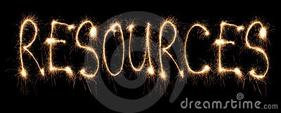 Word resources written sparkler