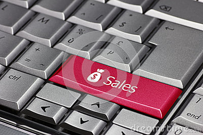 The word sales on a keyboard