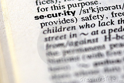 The word security in a dictionary
