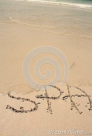 Word SPA on the beach