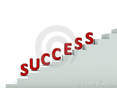 Word success on stair