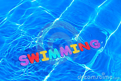 Word Swimming Floating In A Pool Royalty Free Stock Photo Image 15304075