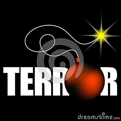 Word terror with bomb