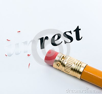 Free Word Unrest Rest Royalty Free Stock Images - 105780709