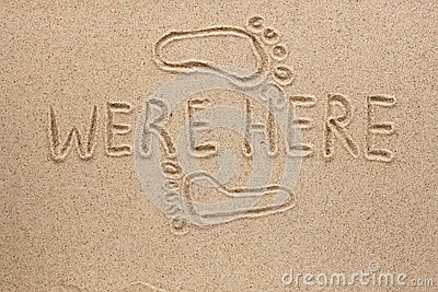 The word were here written on the sand