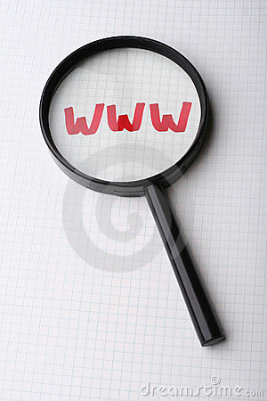 Word WWW - Searching internet concept