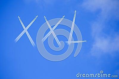 Word XXL on blue sky