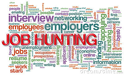 Wordcloud of job hunting