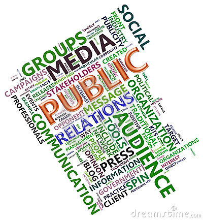 Wordcloud of public relation