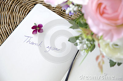 Wording thank you with blossom