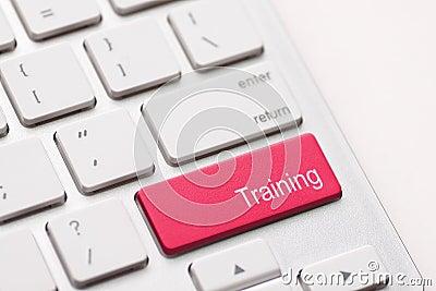 Wording Training on computer keyboard