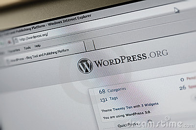 Wordpress.org main internet page Editorial Photo