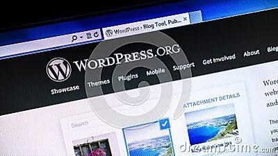 Wordpress.org website Editorial Photography