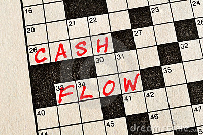 The Words Cash Flow on Crossword Puzzle