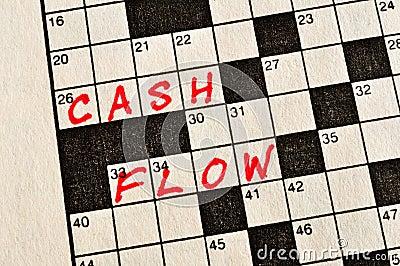 The Words Cash Flow on Crossword Puzzle