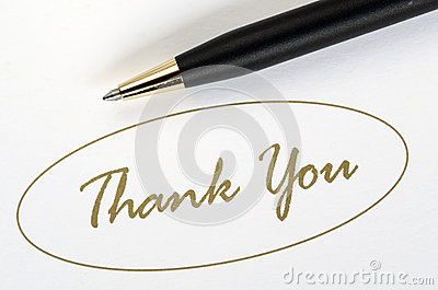 The words Thank You