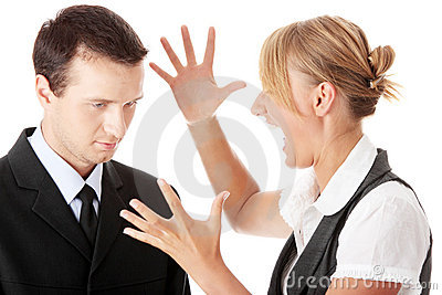 Work Colleagues arguing