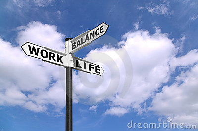 Work Life Balance Signpost Stock Photography - Image: 6199902