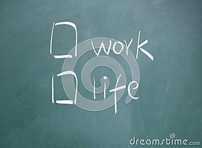 Work or life choice
