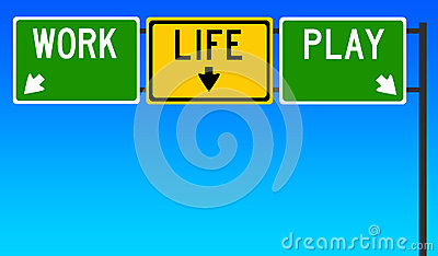 Work life play Stock Photo