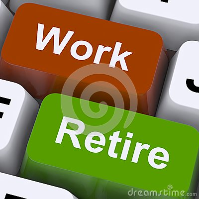 Work Or Retire Computer Keys