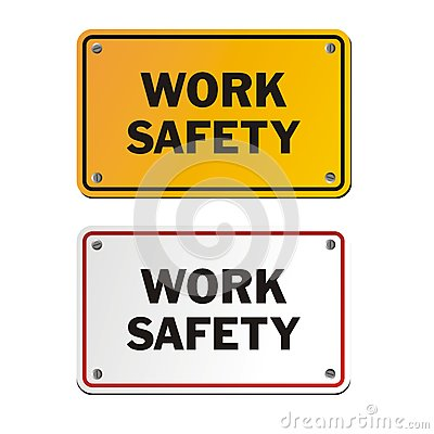 Free Work Safety Signs Stock Images - 66042484