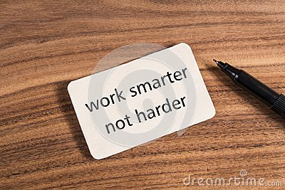 Work smarter not harder word Stock Photo