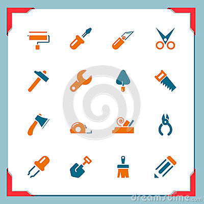Work tool icons | In a frame series