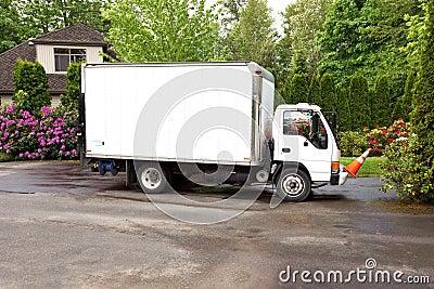 Work truck in driveway