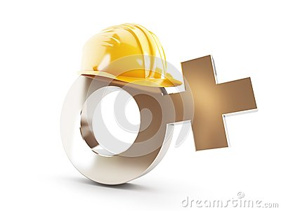 Work for Women , symbol Women construction helmet