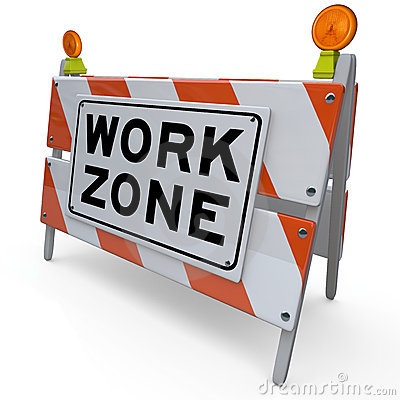 Work Zone Barricade Construction Sign Closed Area
