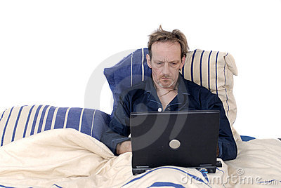 Workaholic, sleeping with laptop.