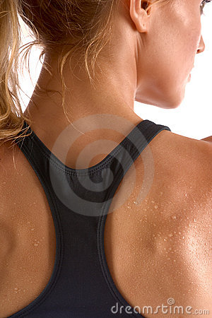 Free Worked Out Sweat, Back View Stock Image - 2261651