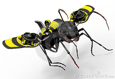 Worker Ant with Wasp Flying Mechanism