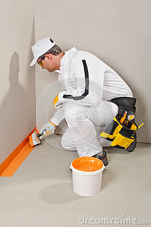 Worker brush waterproofing