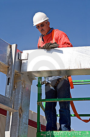 Free Worker Checking Angles Stock Image - 8059111