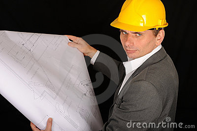 Worker with Construction Plan