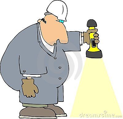 Worker With A Flashlight