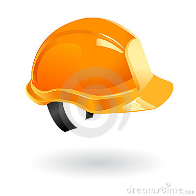 Worker helmet isolated