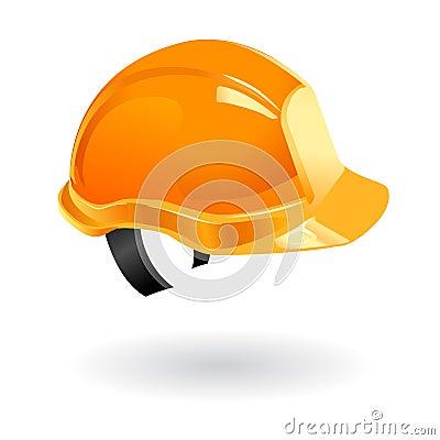 Worker helmet isolated