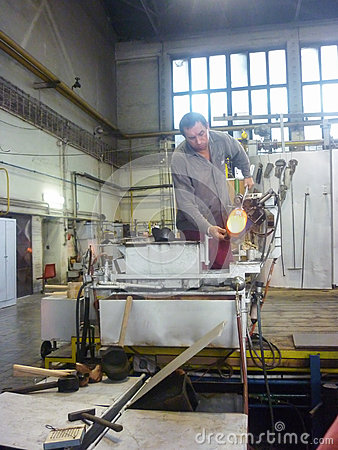 Free Worker Makes Murano Glass Royalty Free Stock Photo - 69993655