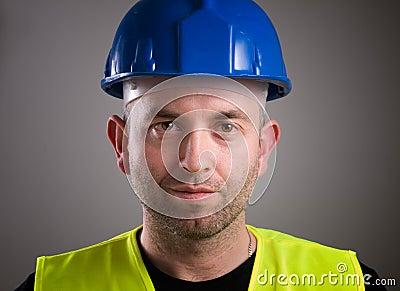 Worker man portrait