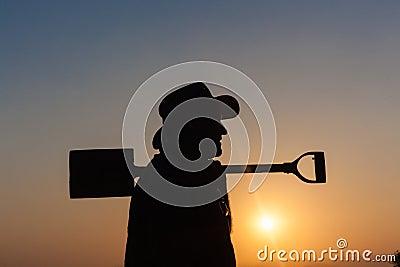 Man Outline Spade Silhouette