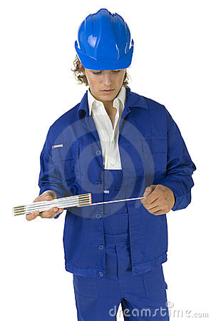Worker with measure