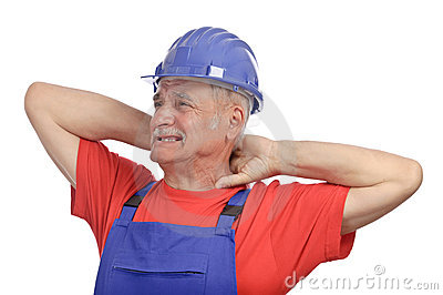 Worker neck pain